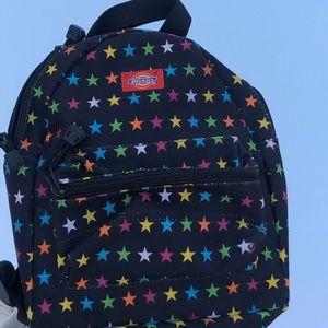 Mini Black Dickies Backpack w multicolored stars